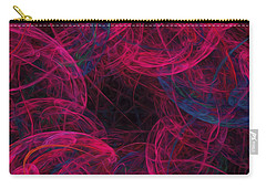 Carry-all Pouch featuring the digital art String Time Abstract by Andee Design