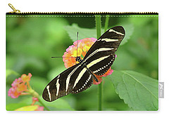 Striped Butterfly Carry-all Pouch by Wendy McKennon