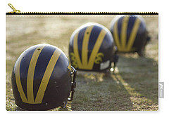 Striped Helmets On A Yard Line Carry-all Pouch