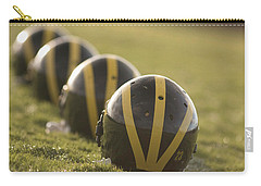 Striped Helmets On Yard Line Carry-all Pouch