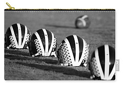 Striped Helmets With Football Carry-all Pouch