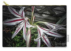 Carry-all Pouch featuring the photograph Striped Lilies by Judy Hall-Folde