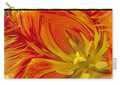 Striped Parrot Tulips. Olympic Flame Carry-all Pouch