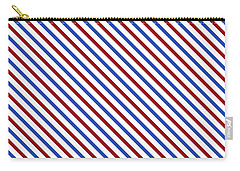 Stripes Diagonal Carmine Red Cobalt Blue Simple Modern Carry-all Pouch
