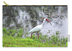 Strolling Ibis Carry-all Pouch by Carol Groenen