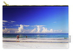 Carry-all Pouch featuring the photograph Strolling The Beach by Gary Wonning