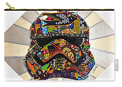 Carry-all Pouch featuring the tapestry - textile Strom Trooper Afrofuturist  by Apanaki Temitayo M