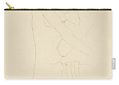 Study For Adele Bloch Bauer II Carry-all Pouch by Gustav Klimt