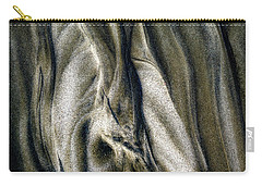 Carry-all Pouch featuring the photograph Study In Brown Abstract Sands by Rikk Flohr