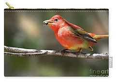 Stuffed Summer Tanager Carry-all Pouch