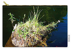 Carry-all Pouch featuring the photograph Stump Art 11 by Sadie Reneau