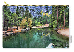 Stunning Lake - Yosemite  Carry-all Pouch by Chuck Kuhn