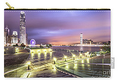 Stunning Night View Of The Famous Hong Kong Island Skyline And V Carry-all Pouch