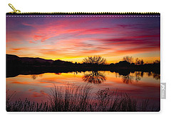 Stunning Pink Sunset Carry-all Pouch