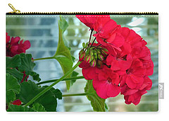 Stunning Red Geranium Carry-all Pouch
