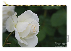 Stunning White Tineke Rose Carry-all Pouch