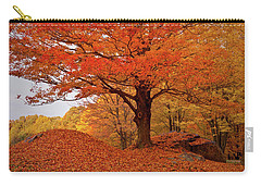 Sturdy Maple In Autumn Orange Carry-all Pouch