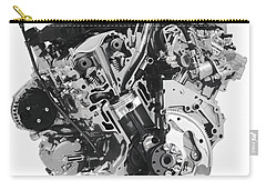 Stylized Cross Section Of Buick Lacrosse V6 Engine Art Print Carry-all Pouch