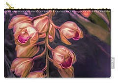 Stylized Orchids Carry-all Pouch