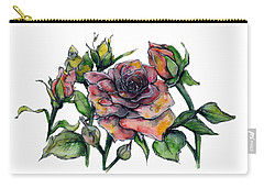 Stylized Roses Carry-all Pouch