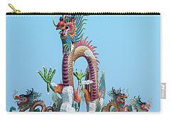 Carry-all Pouch featuring the photograph Suan Sawan Golden Dancing Dragon Dthns0144 by Gerry Gantt