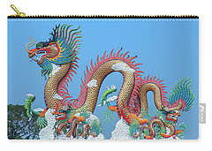 Carry-all Pouch featuring the photograph Suan Sawan Golden Dancing Dragon Dthns0147 by Gerry Gantt
