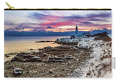 Subtle Sunrise At Portland Head Light Carry-all Pouch