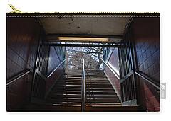 Carry-all Pouch featuring the photograph Subway Stairs To Freedom by Rob Hans