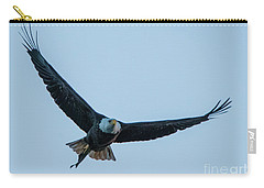 Carry-all Pouch featuring the photograph Successful Bald Eagle by Jeff at JSJ Photography