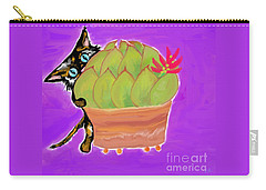 Succulent Calico Cat  Carry-all Pouch