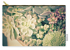Carry-all Pouch featuring the photograph Succulent Garden by Ana V Ramirez