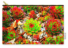Succulent Hens And Chickens Carry-all Pouch
