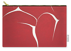 Carry-all Pouch featuring the painting Succulent In Red by Ben Gertsberg