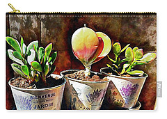 Succulents In A Group Of Three Carry-all Pouch