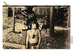 Carry-all Pouch featuring the photograph Sucua Kids 895 by Al Bourassa