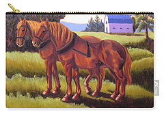 Suffolk Punch Day Is Done Carry-all Pouch