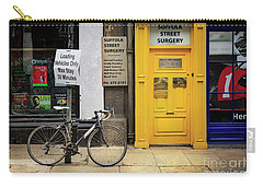 Carry-all Pouch featuring the photograph Suffolk Street Surgery Bicycle by Craig J Satterlee