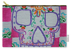Carry-all Pouch featuring the painting Sugar Skull by Amy Gallagher