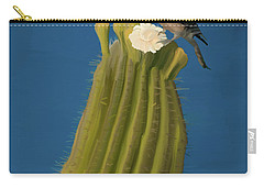 Sugaro Cactus And Cactus Wren Carry-all Pouch by Wally Hampton