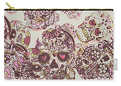 Sugarskull Punk Patchwork Carry-all Pouch