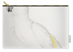Sulphur Crested Cockatoo Carry-all Pouch by Nicolas Robert