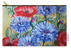 Summer Abundance Carry-all Pouch by Rosemary Colyer