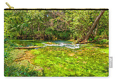 Carry-all Pouch featuring the photograph Summer At Alley Springs by John M Bailey