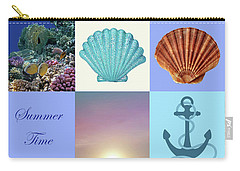 Summer Beach House Collage Carry-all Pouch