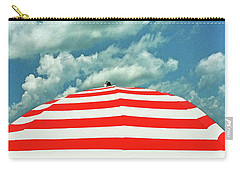 Carry-all Pouch featuring the photograph Summer Beach Sky by Deborah Smith
