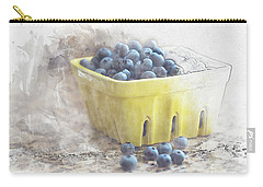 Carry-all Pouch featuring the digital art Summer Blueberries by Sue Collura