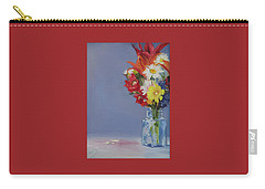 Summer Bouquet Carry-all Pouch by Jane Autry