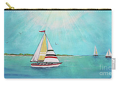Carry-all Pouch featuring the painting Summer Breeze-b by Jean Plout