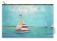 Carry-all Pouch featuring the painting Summer Breeze-c by Jean Plout