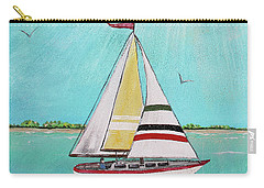 Carry-all Pouch featuring the painting Summer Breeze-d by Jean Plout